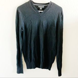 Banana Republic Black Vneck Wool Sweater, M